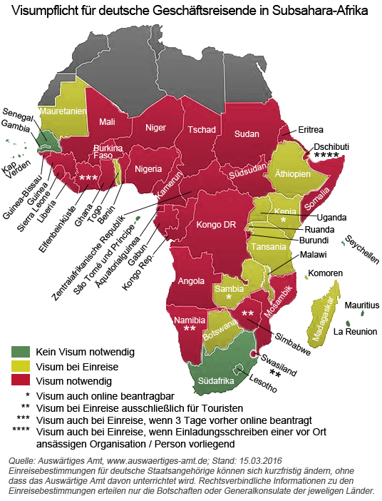 Afrika Karte Staaten.Reisefreiheit In Subsahara Afrika Ihk Subsahara Afrika Blog Ihk